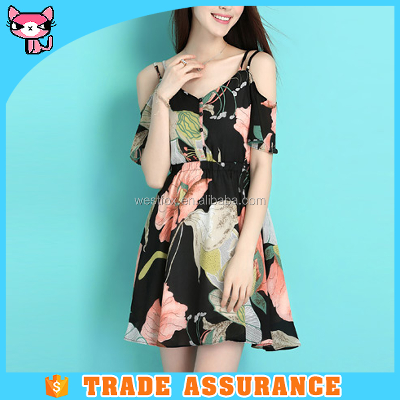 OEM All types of slim sleeveness chiffon ladies dresses for office