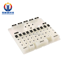 Rubber Push Button Membrane Keyboard with Transparent Window Silicone Button