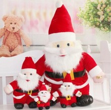 Christmas Day 25-65CM plush santa claus stuffed christmas decoration toy holiday gift toy