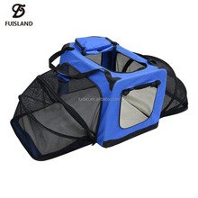FIRSTWELL Foldable Expandable Pet Carrier - TWO SIDE Expansion, Designed for Cats, Dogs, Kittens,Puppies