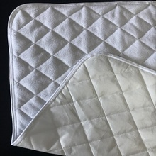 Quilted Bamboo Terry Fabric Waterproof Breathable Mattress Pad