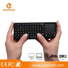 Ergonomic White Plastic USB Wireless Keyboard For Android Tablet