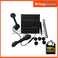 JT-250-1.8W Solar Pond Fountain Pump Kit 240L/H 110CM 9V DC Brushless Water Pump Submersible Pump With Solar Panel