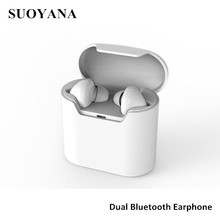 Bluetooth earphones 2017 mobile phone accessories dual bluetooth earphone top selling products in alibaba