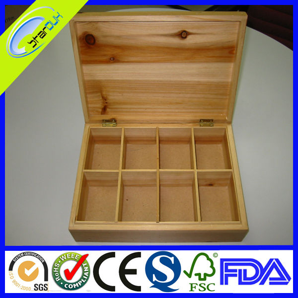 wooden compartment boxes with glass windows