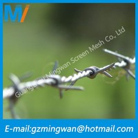 Electrogalvanizing Iron mesh barbed wire for USA farm fence