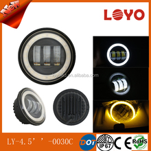 Factory price 4.5 inch 30w led fog light, halo ring fog light motorcycle headlight for harley