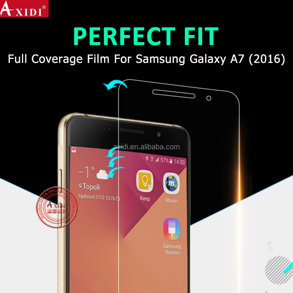 2016 Hot New HD yellow color Premium tpu screen protector for samsung galaxy A5