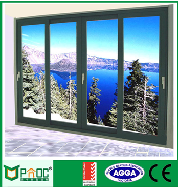 Double glazing german style aluminum sliding doors with soundproof