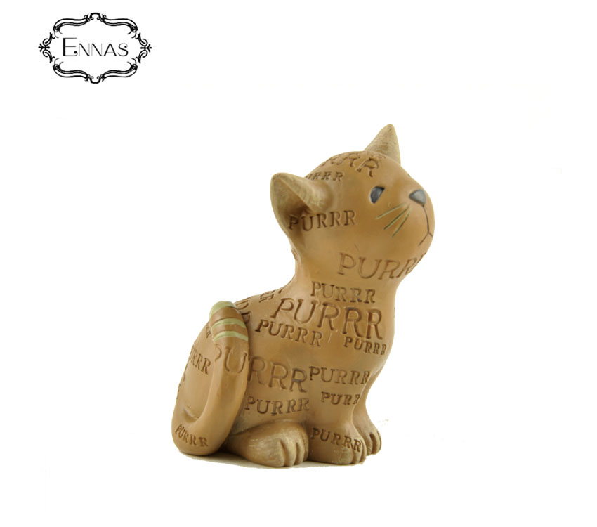 Garden cute animal handmade 3d resin cat decoration