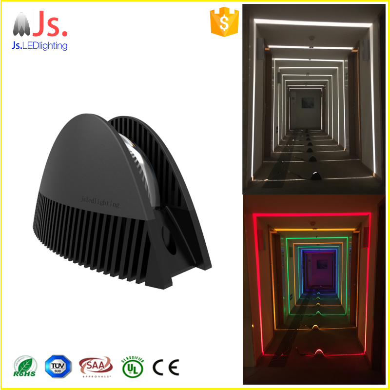 Best price waterproof aluminum LED outdoor indoor wall light for 360 180 90 degree illumination