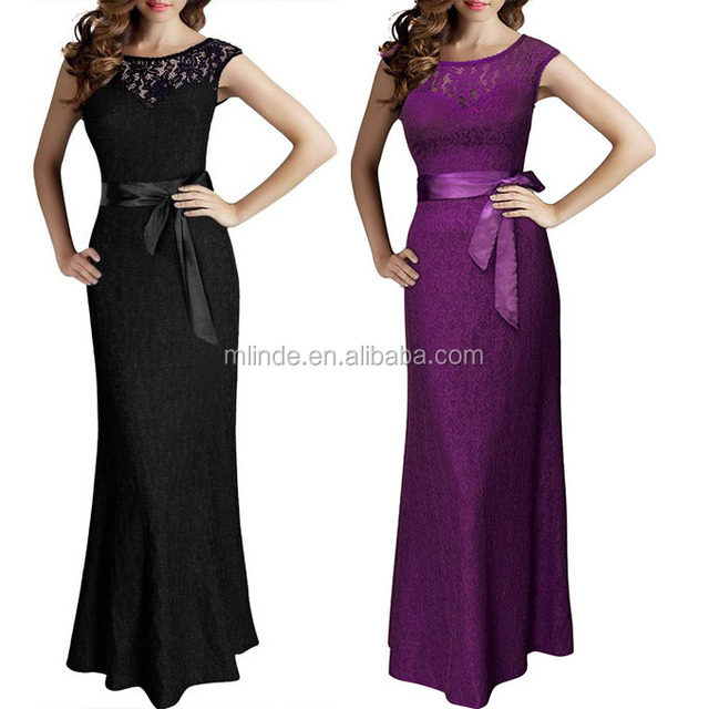 Women's Elegant Floral Sleeveless Halter Lace Bridesmaid Maxi Dress For Wedding
