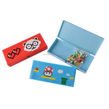 Latest style simple fashion creative kids puzzle plastic pencil stationery case