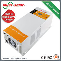 24v 4000w for Dubai popular Pure Sine Wave Solar Inverter with A/C MPPT charger for solar panels and home appliance