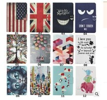 KLT OEM Customized Printed Cartoon National Flag Tablet PC Leather PU Stand Cover Case For Samsung Tab 4 7.0'' T230 T231 T235