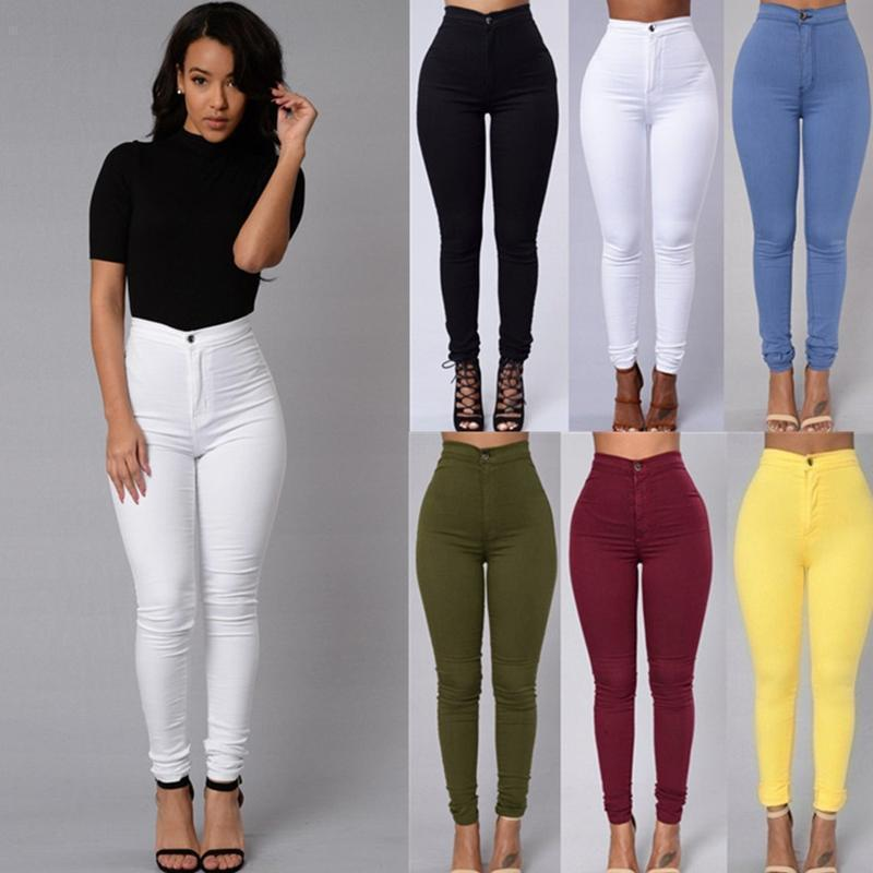 ZH01737B China clothing fashion latest design women fitted pants ladies jeans