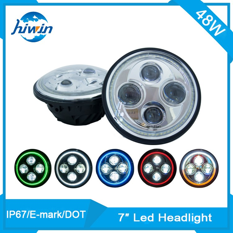 Best quality DRL round high quality harley led headlight 7 inch for motorcycle
