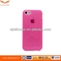 Soft clear pink tpu skins case for apple iphone 5 5g 5s