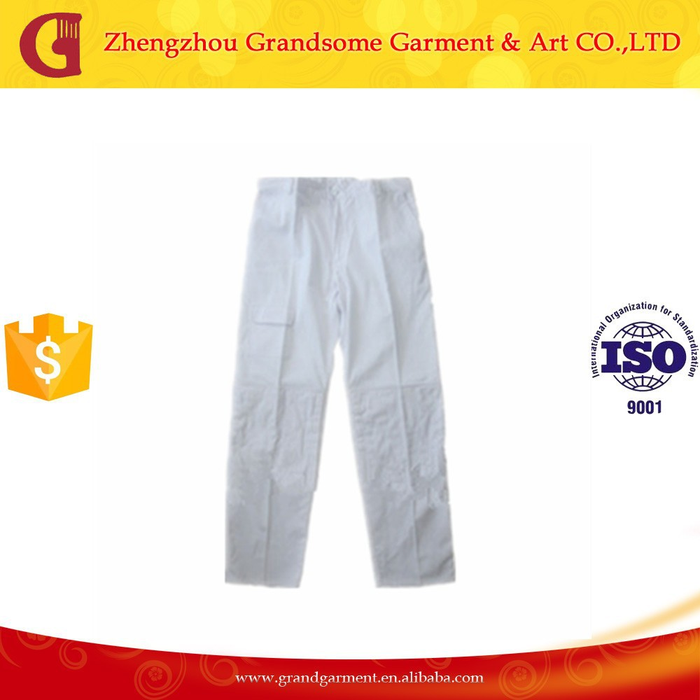 OEM Custom Design White Painter Pants Wholesale Work Trousers
