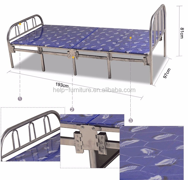 Household folding trundle bed
