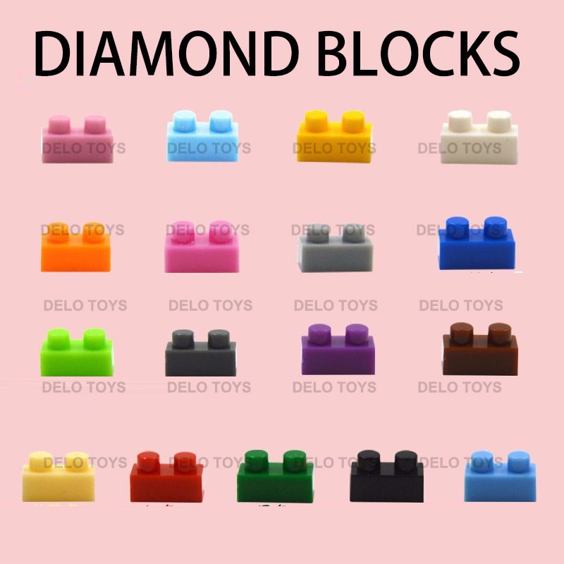 Alibaba gold supplier plastic diamond building blocks bricks in bulk bricks DE00078