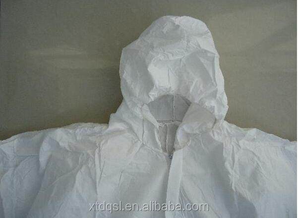Hubei Disposable microporous film SF coverall with hood