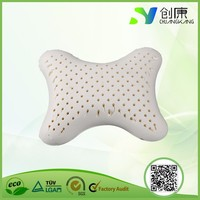 China supplier high density magnetic neck support natural pillow latex bone shape pillows
