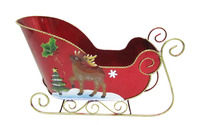 christmas metal sleigh ornaments for decoration