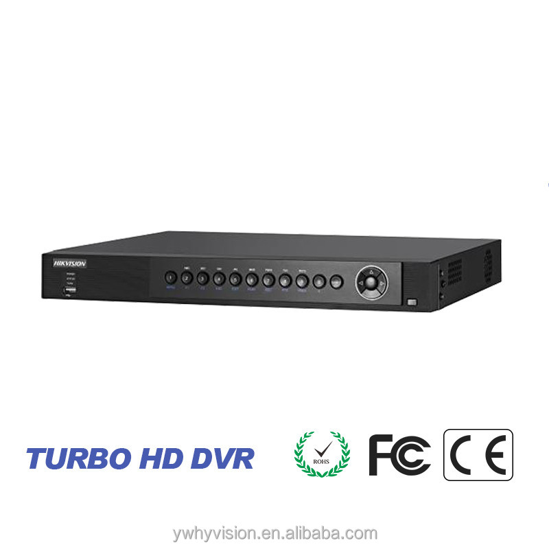 CCTV Brand Hikvision hd tvi dvr support tvi and analog camera with 3MP DS-7208HUHI-F2/N turbo hd 8ch H.264