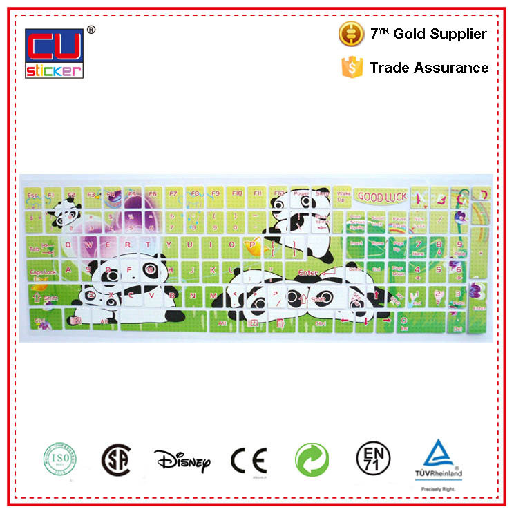 Colorful laptop skin cartoon keyboard silicone skin for dell laptop