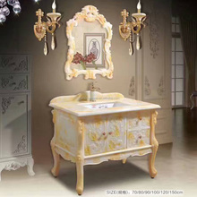 White with Golden Onyx Cabinet Vanity top,stone vanity top with basin