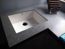 composite stone acrylic resin undercounter kitchen sink with solid surface top