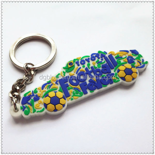 Customized world cup 2014 keychain / 2014 world cup keychain