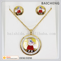 Gorgeous enamel pig pendant 18k gold filled jewelry for Children jewelry