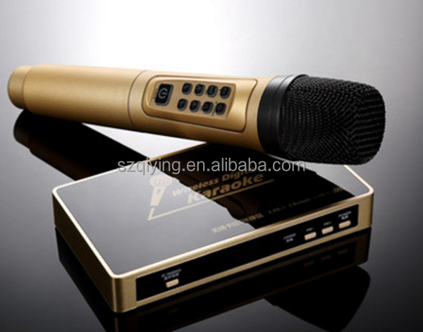 car Wireless karaoke microphone, HiFi wireless microphone with Bluetooth receiver and FM audio