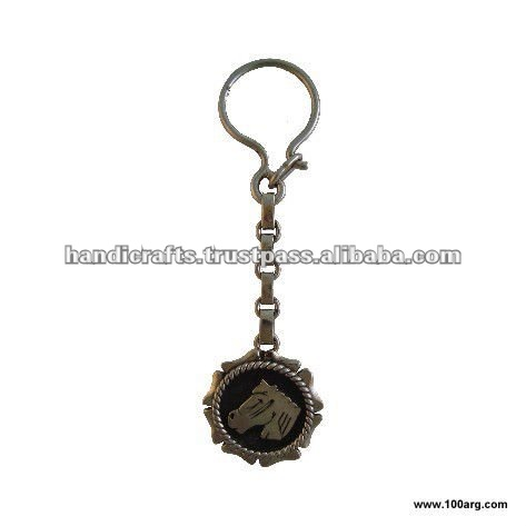 KEY HOLDER IN NICKEL SILVER, DRAFT WITH DIFFERENT DESIGNS