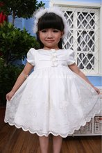 2012 new style collection embroidery and beaded baby christening dress