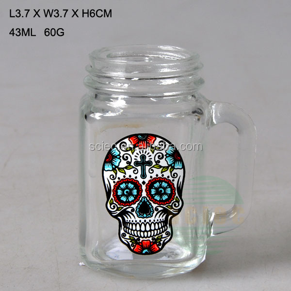 43ml small and cool glass mason jar