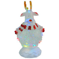 Hot selling Christmas gift, water globe light, battery operated deer head led light