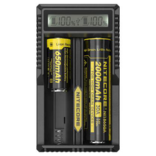 Hot New Product Nitecore UM20 Universal rechargeable 3.7V Li-ion Battery charger, 18650 battery charger