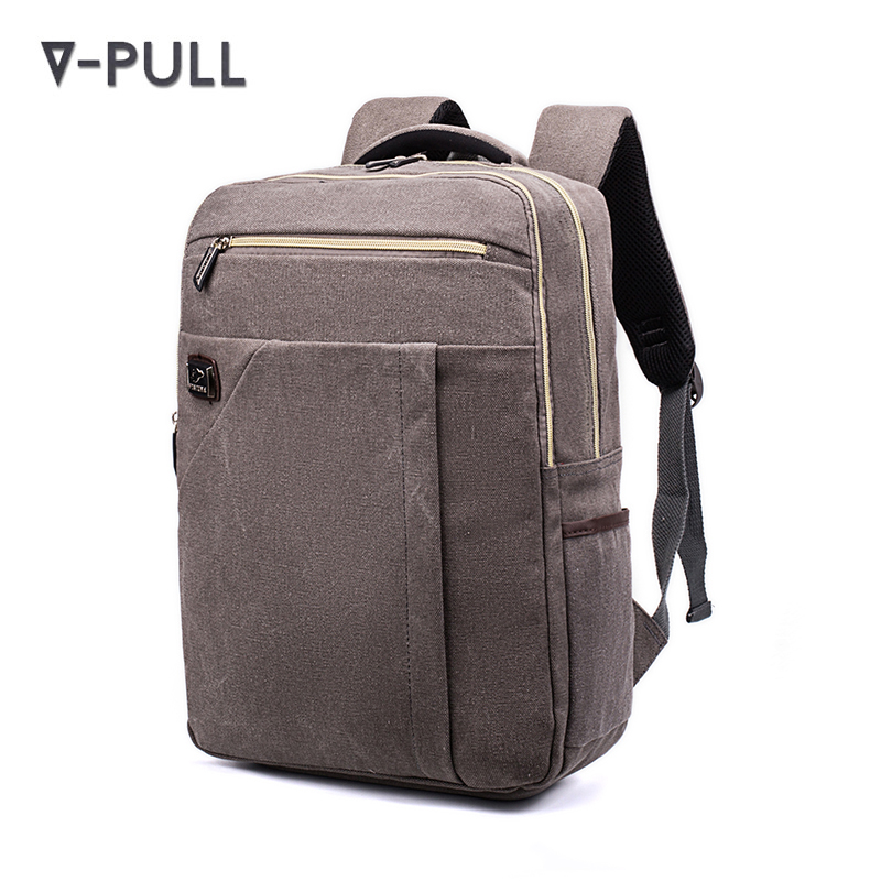 Retail wholesale Vintage 30-40 Canvas Rucksack Daypack Laptop Backpack for Women Men Teens