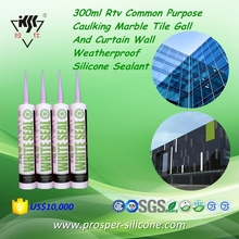 300ml Rtv Common Purpose Caulking Marble Tile Gall And Curtain Wall Weatherproof Silicone Sealant