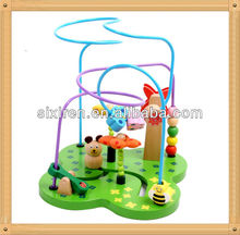 wooden garden wire bead maze toys popular
