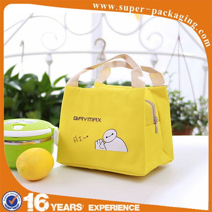 Promotion wholesale cute cooler aluminum foil insulated kids lunch bag for school
