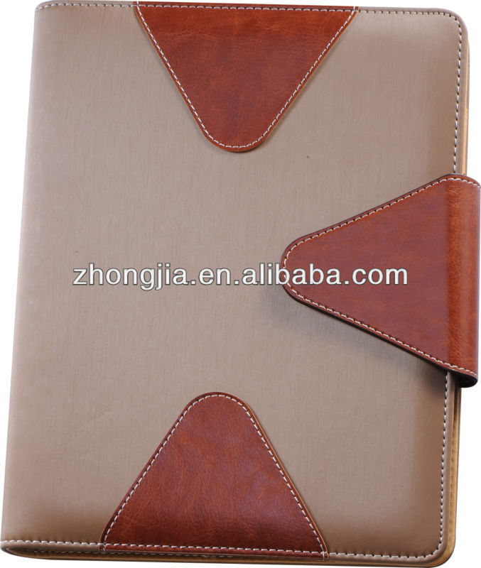 2014 pu cover A5 paper notebook organizer