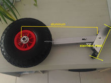 hot sales 2015 new products ss316 transom dolly adjustable inflatable boat launching wheel