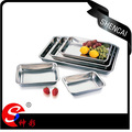 Stainless Steel Square Tray/Food Plate/Hotel Serving Tray/Food Dish/Dinner Tray