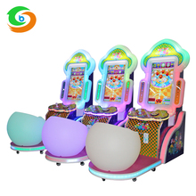 Coin operated Circus park LED colorful children arcade lottery/ringtoss patting ticket game machine for kids