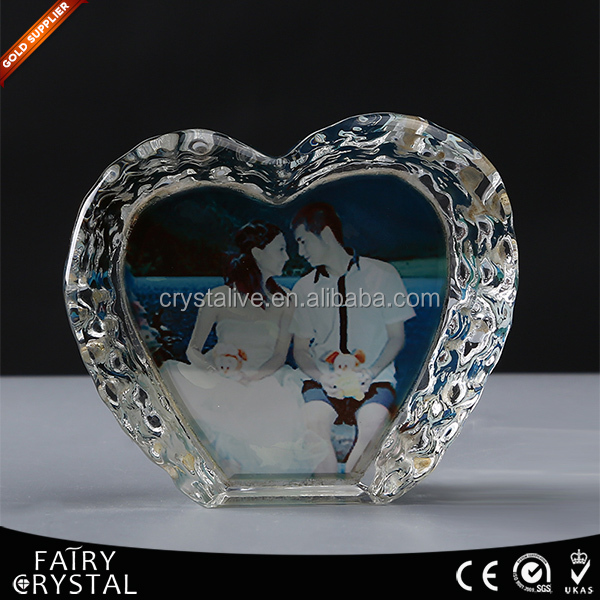 Elegant crystal heart shaped glass ornaments