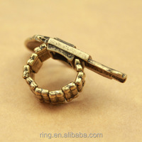 Gothic Punk Gun Shaped Ring Jewelry Finger Ring
